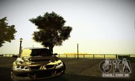 Mitsubishi Lancer Evo IX para GTA San Andreas esquerda vista