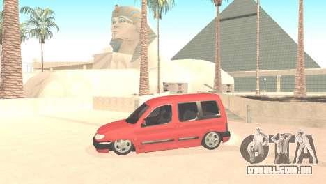 Peugeot Partner para GTA San Andreas esquerda vista