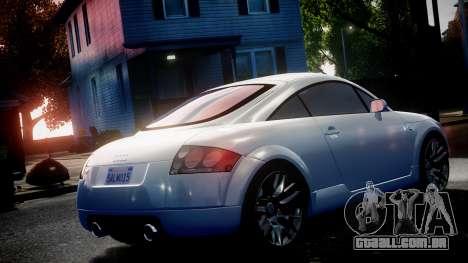 Audi TT Coupe 3.2 Quattro 2004 para GTA 4 vista direita