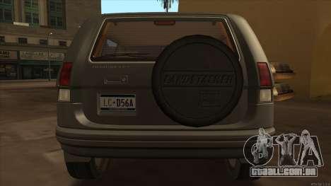 Landstalker HD from GTA 3 para GTA San Andreas vista direita