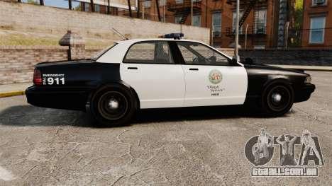 GTA V Police Cruiser [ELS] para GTA 4 esquerda vista