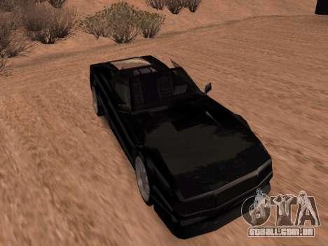 Sheetah Restyle para GTA San Andreas traseira esquerda vista
