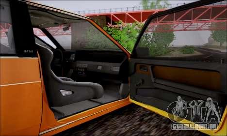VAZ 21083 baixo clássico para GTA San Andreas vista superior