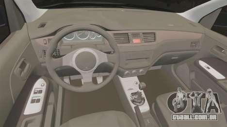 Mitsubitsi Lancer MR Evolution VIII 2004 Stock para GTA 4 vista interior