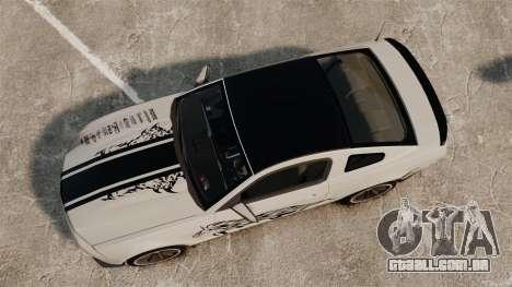 Ford Mustang 2012 Boss 302 Fiery Horse para GTA 4 vista direita