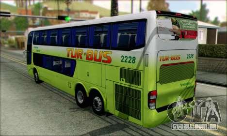 Marcopolo Paradiso G6 Tur-Bus para GTA San Andreas esquerda vista