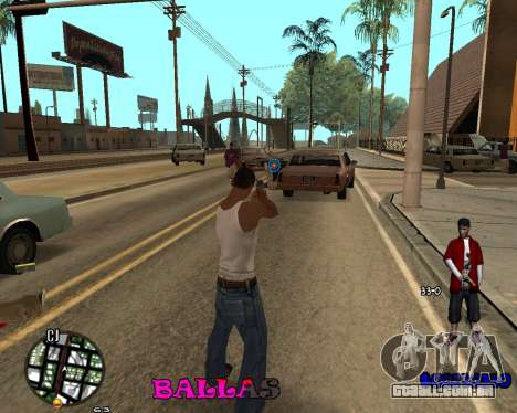 HUD The Ballas By Santiago para GTA San Andreas segunda tela