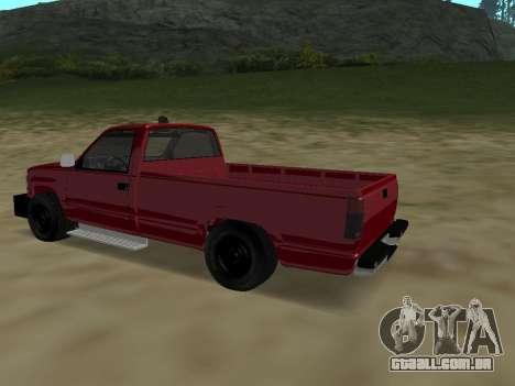 Chevrolet Silverado ATTF para GTA San Andreas vista traseira