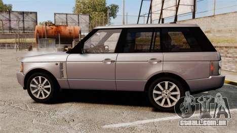 Range Rover Supercharged para GTA 4 esquerda vista