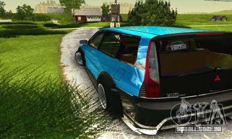 Mitsubishi Evo IX Wagon S-Tuning para GTA San Andreas vista inferior