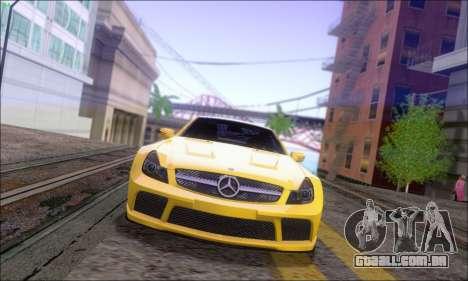 Mercedes-Benz SL65 AMG GB para GTA San Andreas traseira esquerda vista