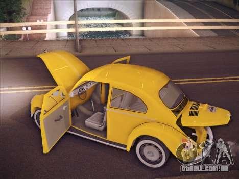 Volkswagen Käfer para GTA San Andreas interior