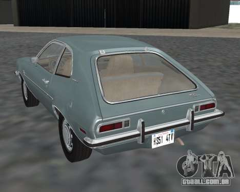 Ford Pinto 1973 para GTA San Andreas esquerda vista