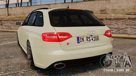Audi RS4 Avant VVS-CV4 2013 para GTA 4 traseira esquerda vista