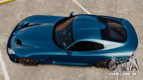 Dodge Viper SRT GTS 2013 para GTA 4 vista direita