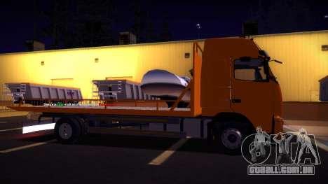 Volvo FH12 reboque para GTA San Andreas vista direita