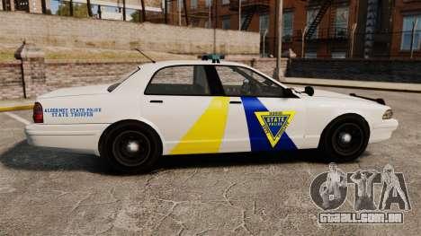 GTA V Police Vapid Cruiser Alderney state para GTA 4 esquerda vista