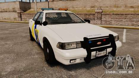 GTA V Police Vapid Cruiser Alderney state para GTA 4
