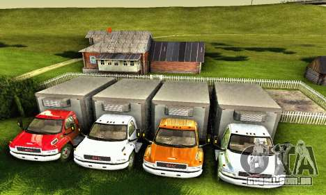 GMC Top Kick C4500 Dryvan House Movers 2008 para GTA San Andreas vista inferior