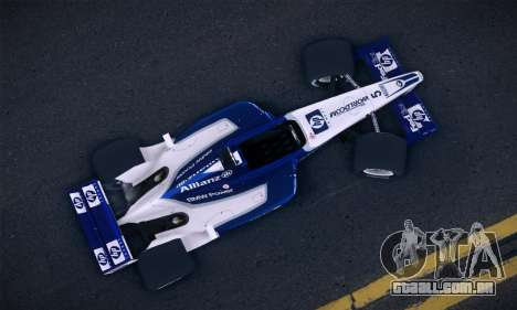 BMW Williams F1 para GTA San Andreas traseira esquerda vista