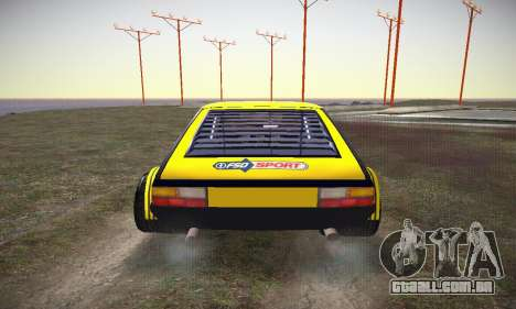 FSO Polonez 2500 Racing 1978 para vista lateral GTA San Andreas