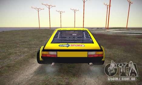 FSO Polonez 2500 Racing 1978 para vista lateral GTA San Andreas