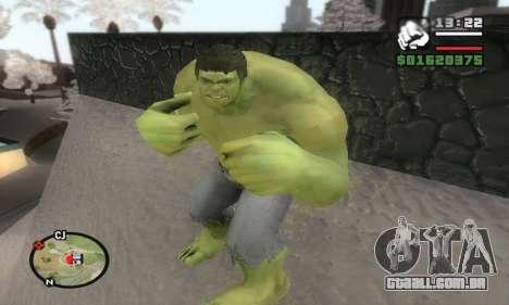 Hulk para GTA San Andreas terceira tela