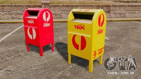 Caixas de correio da Austrália para GTA 4