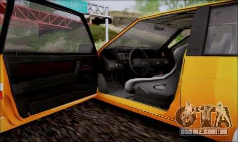 VAZ 21083 baixo clássico para vista lateral GTA San Andreas