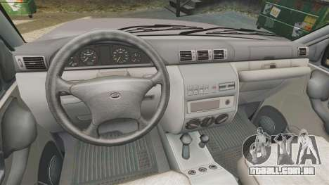 UAZ Patriot para GTA 4 vista interior