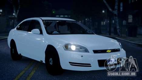 Chevy Impala Unmarked 2010 para GTA 4