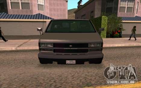 Burrito GTA 4 para GTA San Andreas traseira esquerda vista