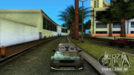 Lexus IS200 para GTA Vice City vista direita