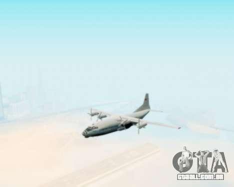 A Aeroflot an-12 para GTA San Andreas vista direita