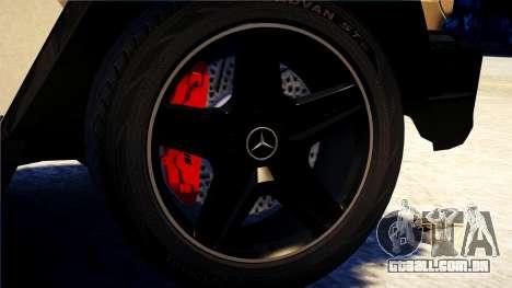 Mercedes-Benz G65 AMG 2013 para GTA 4 traseira esquerda vista