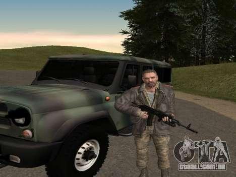 Viktor Reznov para GTA San Andreas por diante tela