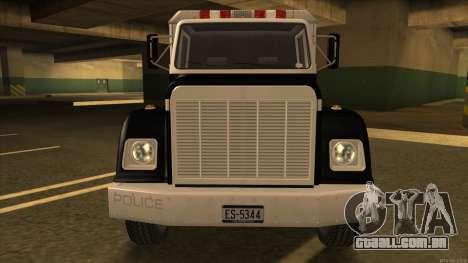 Enforcer HD from GTA 3 para GTA San Andreas esquerda vista