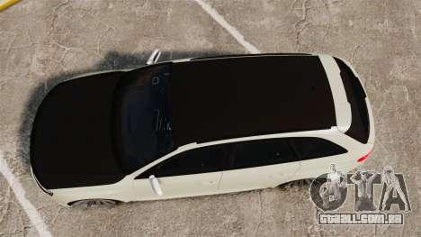 Audi RS4 Avant VVS-CV4 2013 para GTA 4 vista direita