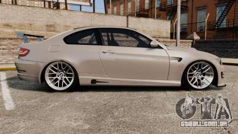 BMW M3 E92 GTS 2010 para GTA 4 esquerda vista