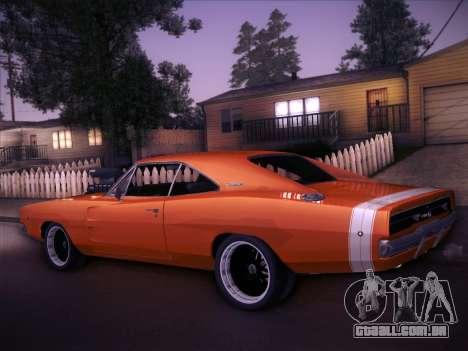Dodge Charger RT V2 para GTA San Andreas traseira esquerda vista
