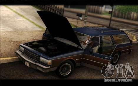 Chevrolet Caprice 1989 Station Wagon para GTA San Andreas traseira esquerda vista