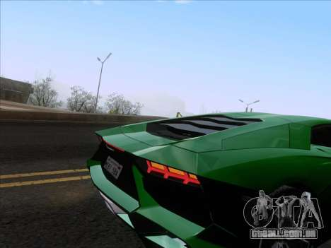 Lamborghini Aventador LP720-4 2013 para GTA San Andreas vista inferior