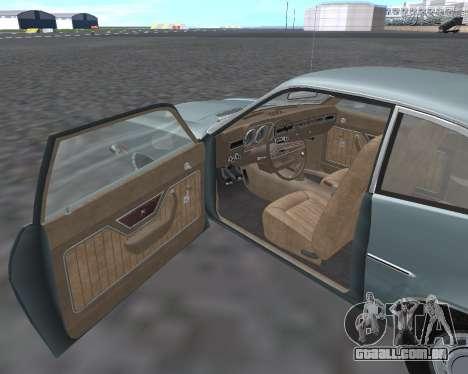 Ford Pinto 1973 para GTA San Andreas vista interior
