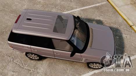 Range Rover Supercharged para GTA 4 vista direita