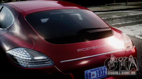 Porsche Panamera Turbo 2010 para GTA 4 vista direita