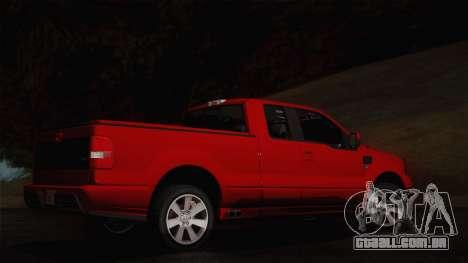 Saleen S331 Supercab 2008 para GTA San Andreas traseira esquerda vista