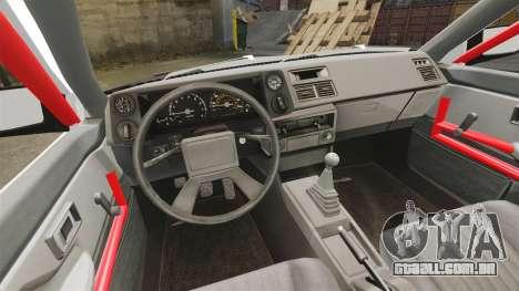 Toyota Sprinter Trueno AE86 Drifting para GTA 4 vista interior