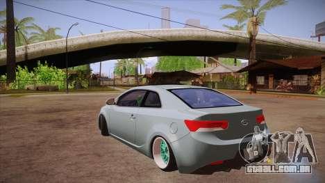 Kia Cerato para GTA San Andreas traseira esquerda vista