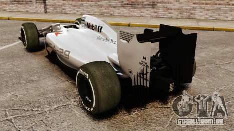 McLaren MP4-29 para GTA 4 traseira esquerda vista