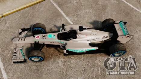 Mercedes AMG F1 W04 v2 para GTA 4 vista direita